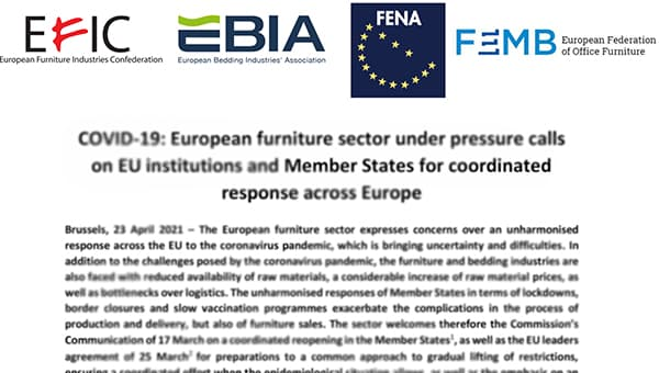 In an open letter, the furniture industry addresses the EU institutions.  Picture: unattributed
