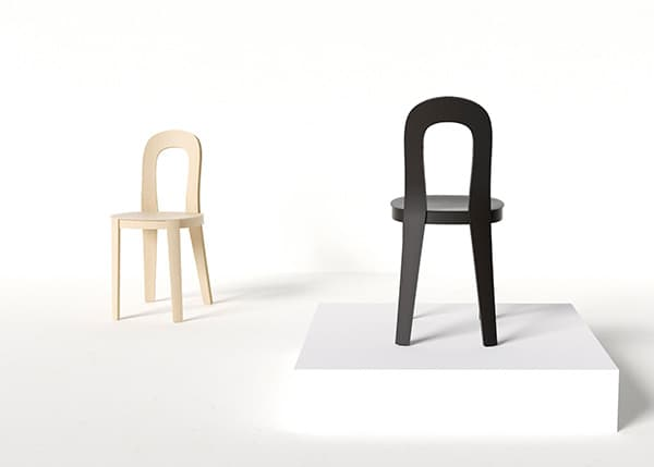 Olivia is a lightweight universal wooden chair that strikes a successful balance between a slender structure and a comfortable seating experience. © Tatu Laakso