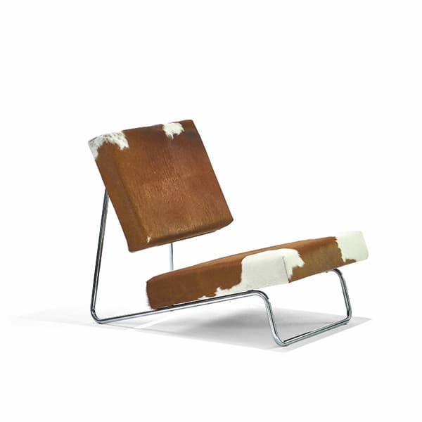 Hirche Lounge Chair with cowhide cover © Richard Lampert / Photo Richard Becker