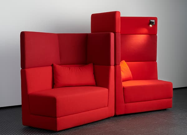 Scope Sofa by Cor, equipped with Plug & Light spotlights © COR