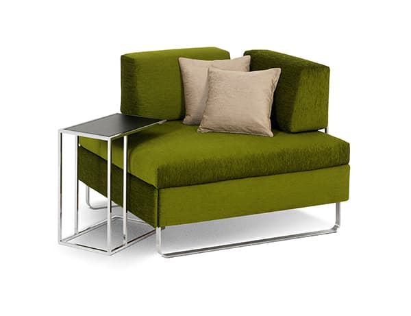 Bed for Living stool, extremely compact and comfortable © SwissPlus