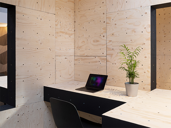 Nolex from Floating Office is catching on: the concept of vertical furniture installation will be expanded to other furnishing objects. © Floating Office