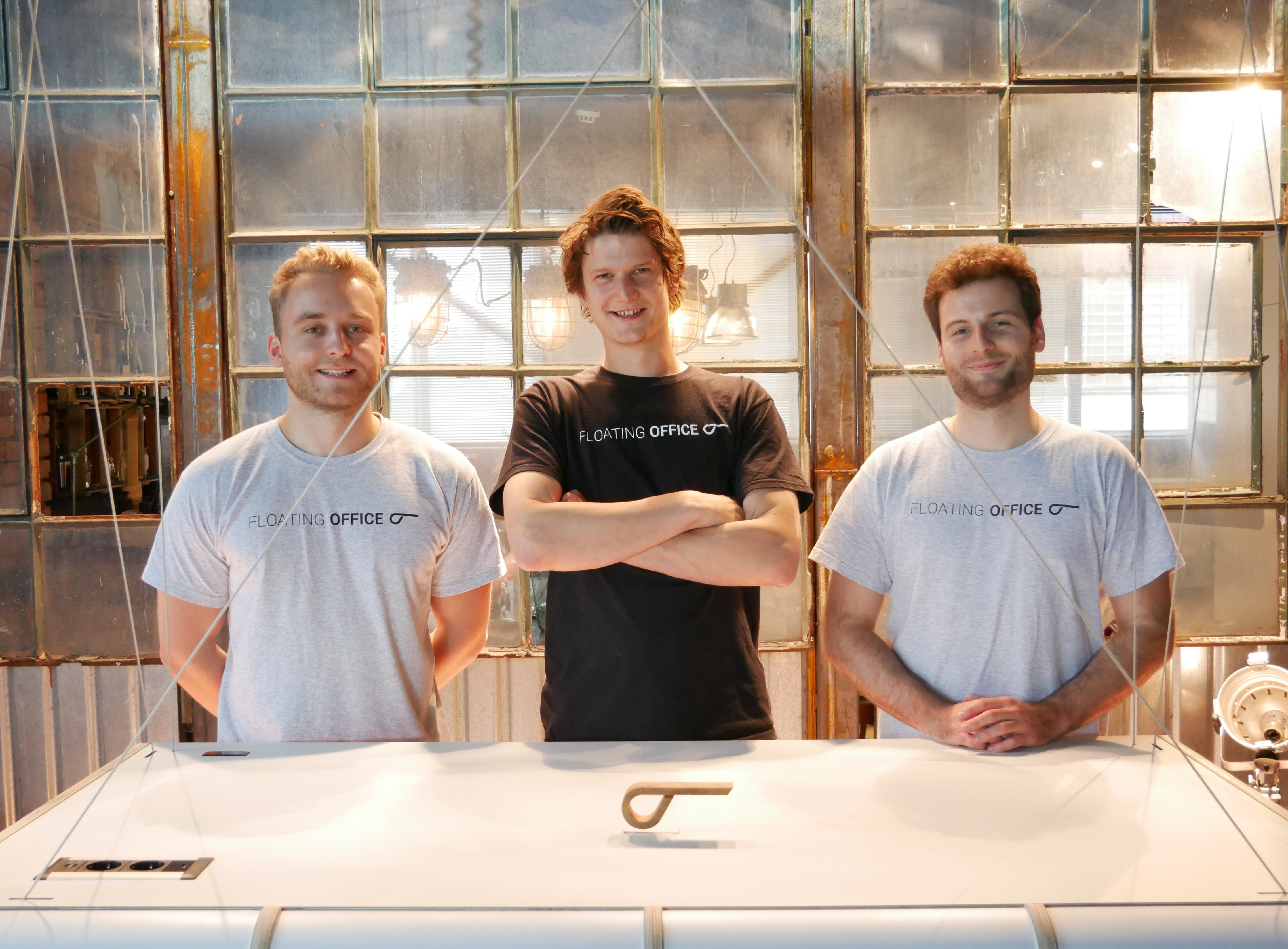 From left to right: the three founders, Florian von Heißen, Philipp Overath and Maciej Walasek from Floating Office. © Floating Office