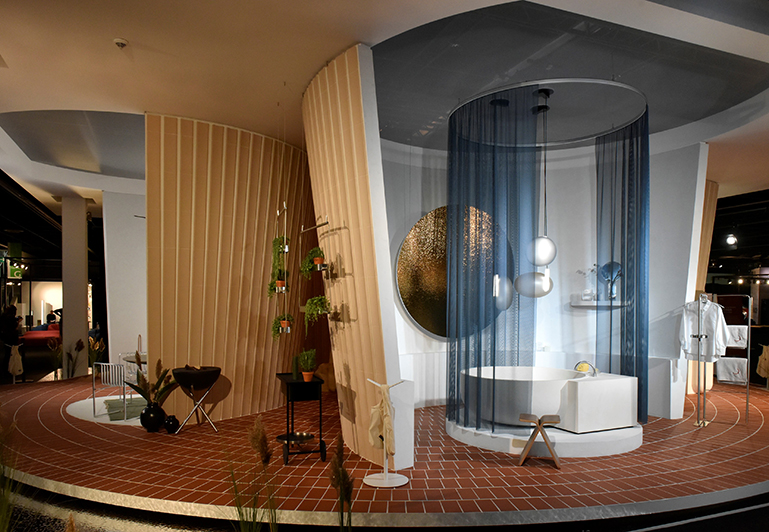 The Spanish designers at MUT Design have created a visionary living concept that turns the inside of the house into the outside. © Koelnmesse