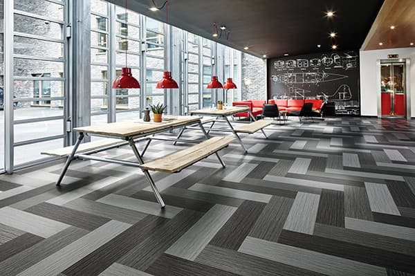 Combines the advantages of textile and resilient flooring: Flotex © Forbo Flooring