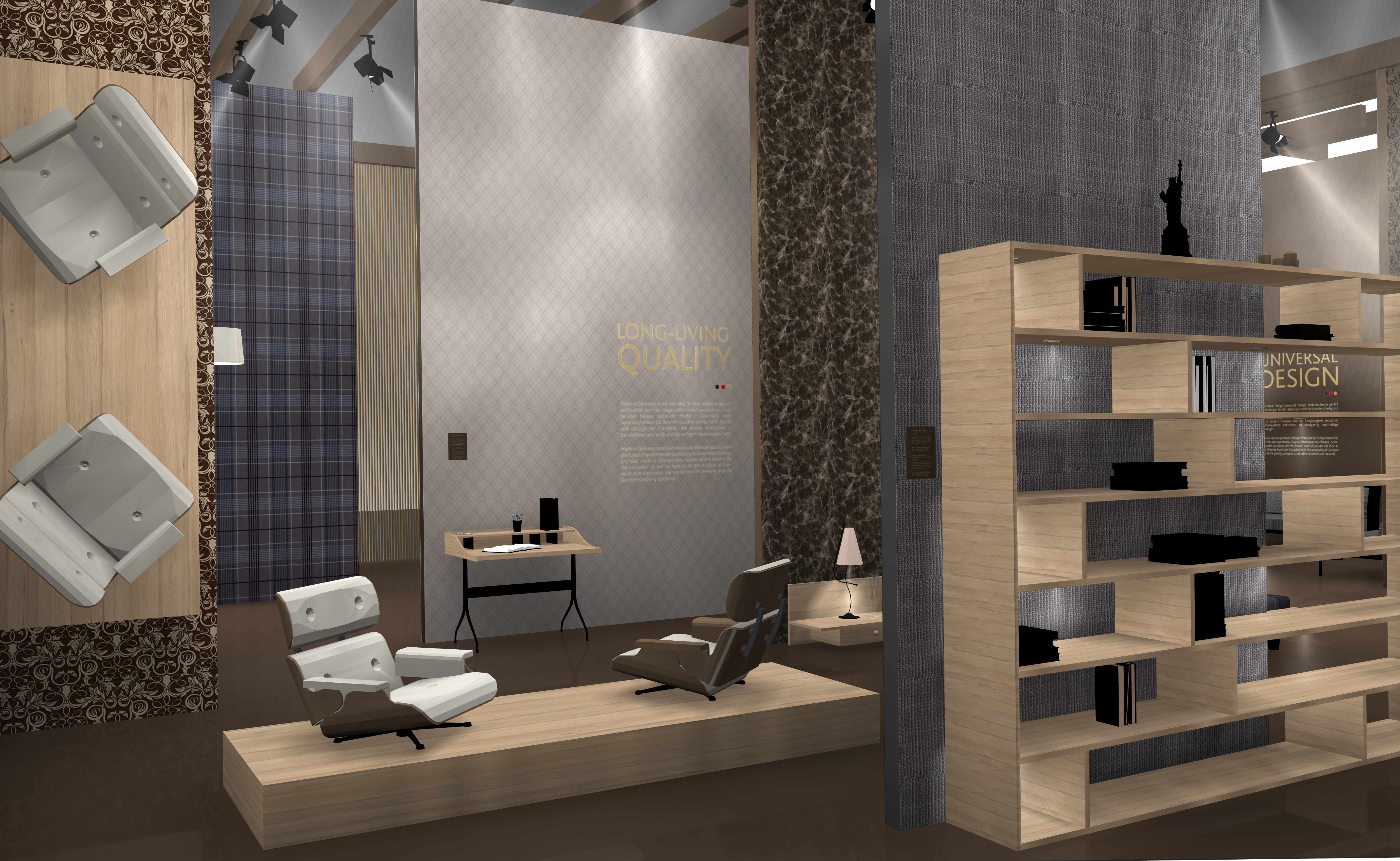 The trend exhibition in the restructured Home theme world demonstrates the broad bandwidth of German interiors brands and their core competences in the area of sustainability. © Trendfilter; Koelnmesse
