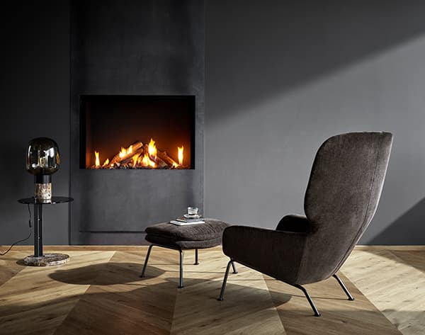 Dublin armchair, a sculptural piece of furniture with a comfortable seating feel © BoConcept