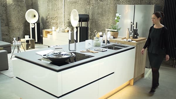 Kimocon is synonymous with the future of home living, modern kitchen design and networked technology. The company also supplies ergonomic kitchens, which are able to satisfy almost any need. © Kimocon