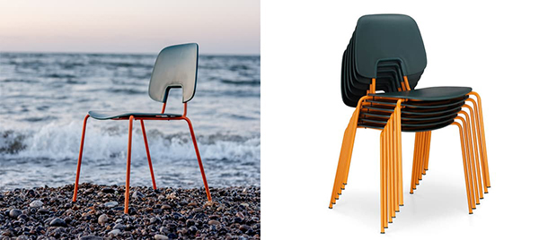 Made from ocean plastic: The R.U.M. chair by Wehlers ApS and C.F. Møller Architects. © Wehlers ApS