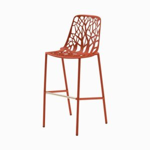 Forest barstool high backrest