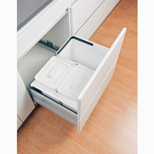 Kitchen, Recycling system in drawer D:368 mm
