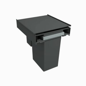 Large capacity waste bins 570 Line 400mm base