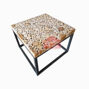 Chips Teak Table without Glass