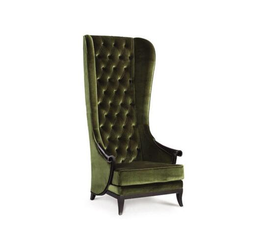 Chancellor High Back Arm Chair By Surya Java Furnindo Cv Wing Chairs Ambista