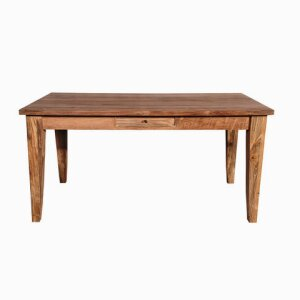 Classic Dining Table with Cone Legs 1 drw - 160 x 90 x 78 cm