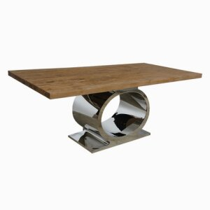 O Table Stainless with SOLID TOP Table