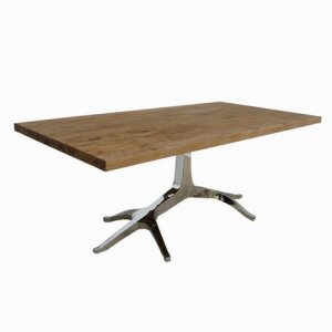 Single ROOT Stainless Leg With SOLID TOP Table