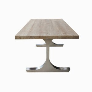 T Table Stainless with SOLID TOP Table