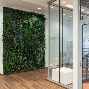 Moss walls and vertical gardens in 3D from the manufacturer