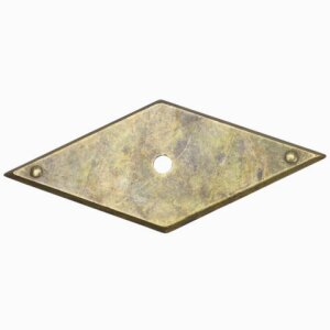 Accessory plate w/nails 85x35 steel antique brass