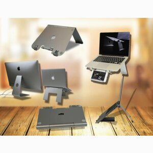 DiiZiGN: Foldable Adjustable Laptop Stand with Phone Holder