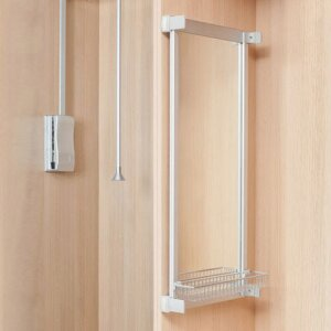 Lateral pull-out mirror for wardrobes DEQUM