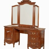 1 door, 3 drawers dressing table with mirror frame Mogador