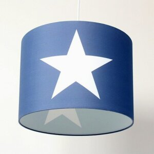 ROOMSTAR hanging lamp with star white blue