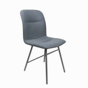 Dorothy: dining chair with metal feet