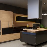 Carbon Glass Kitchen by Vitropan
