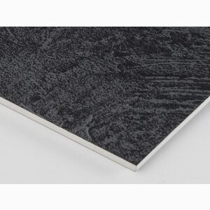 VittEr® Raw Panel Black, Ruggine texture, white core