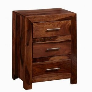 Cube 3 Drawer Bedside Table
