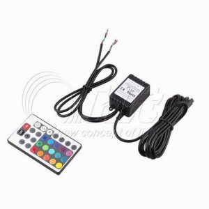 2-zone LED RGB controller with IR remote control