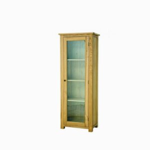 Plum Compact Glazed Display Cabinet