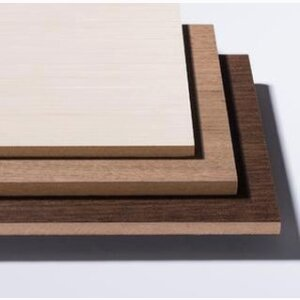 Lined fibreboard (MDF) with Veneer