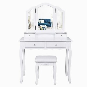 Triple Mirror With Multiple Drawers Dressing Table