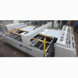 QUILTING MACHINES - HYDRA -Double Head Double Roll Feeding Continuous Quilting Machine