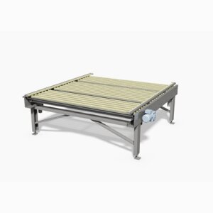 Centering conveyor for mattresses
