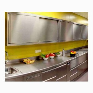 Wall-mounted cupboards stainless steel