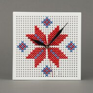 Eight-pointed star wall clock