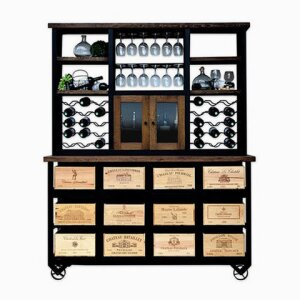 12 Drawer Hutch with Wheels