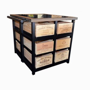 12 Drawer Island Cabinet with Granit Top with 6 Drawers to each side