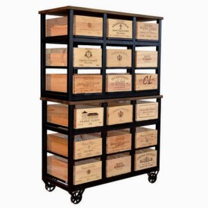 18 Drawer Cabinet with Wheels