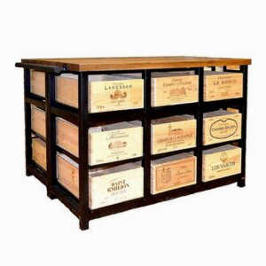 18 Drawer Island Cabinet with 9 Drawers to each side