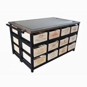 24 Drawer Granit Top Island with 12 Drawers to each side