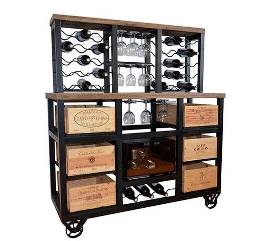 6 Drawer Cabinet With Built In Wine, Wine Cooler Cabinet Furniture