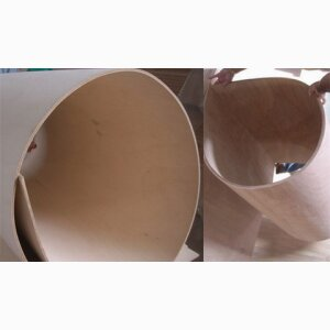 Flexible plywood plate