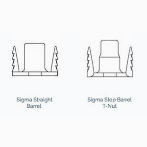 Sigma T-Nut Barrel Configurations