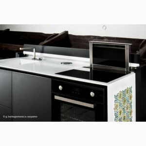 Aretusa, monobloc compact kitchen retractable - technology and tradition