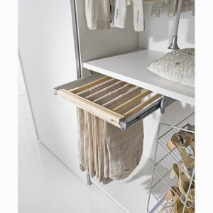 PULL-OUT BEECH TROUSER HOLDER